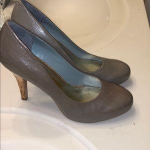 Nine West grey with cork heels